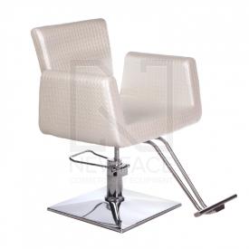 Fotel fryzjerski Vito BM-017 perłowy LUX #1