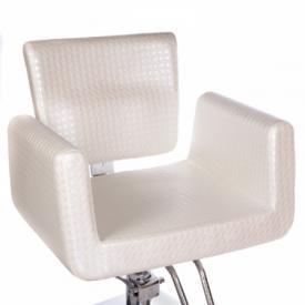 Fotel fryzjerski Vito BM-017 perłowy LUX #2
