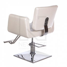 Fotel fryzjerski Vito BM-017 perłowy LUX #4