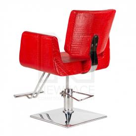 Fotel fryzjerski Vito BM-017 czerwony LUX #3
