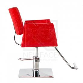 Fotel fryzjerski Vito BM-017 czerwony LUX #4