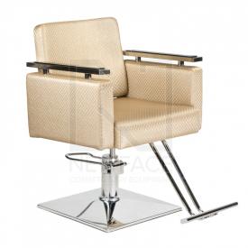 Fotel fryzjerski Simone kremowy BM-204 #1