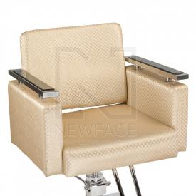 Fotel fryzjerski Simone kremowy BM-204 #2
