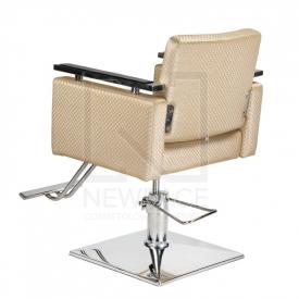 Fotel fryzjerski Simone kremowy BM-204 #3