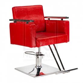 Fotel fryzjerski Simone czerwony BM-204