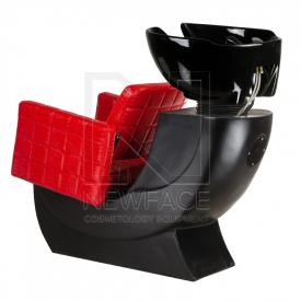 Myjnia fryzjerska Bruno czerwona BM-505 #3