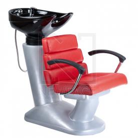 Myjnia fryzjerska FIORE czerwona BR-3530B