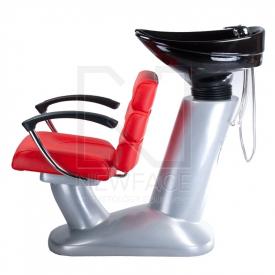 Myjnia fryzjerska FIORE czerwona BR-3530B #3