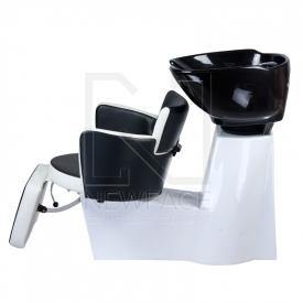 Myjnia fryzjerska LUIGI BR-3542 czarno-biała #6