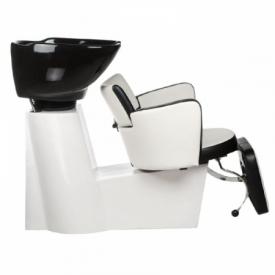 Myjnia fryzjerska LUIGI BR-3542 biało-czarna #5