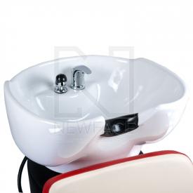 Myjnia fryzjerska NICO czerwono-kremowa BD-7821 #2