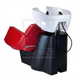 Myjnia fryzjerska NICO czerwono-kremowa BD-7821 #3