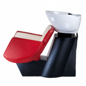 Myjnia fryzjerska NICO czerwono-kremowa BD-7821 #4