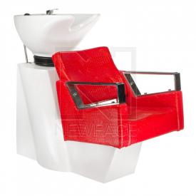 Myjnia fryzjerska Roberto czerwona BM-519