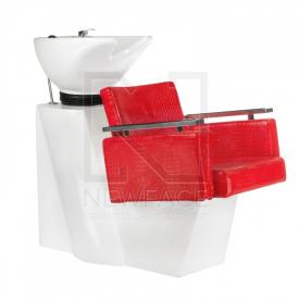 Myjnia fryzjerska Simone czerwona BM-508