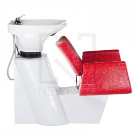 Myjnia fryzjerska Vito BM-509 czerwona LUX #4