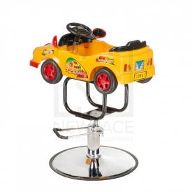 Dziecięcy fotel fryzjerski Autko BW-602 żółty #2