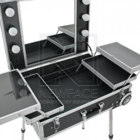 Kufer Kosmetyczny Glamour 9606 Czarny ( Przenośne Stanowisko)