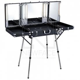Kufer Kosmetyczny Glamour D-6980k Czarny (Przenośne Stanowisko)