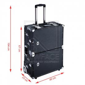 Kufer Kosmetyczny Glamour D-6980k Czarny (Przenośne Stanowisko) #4