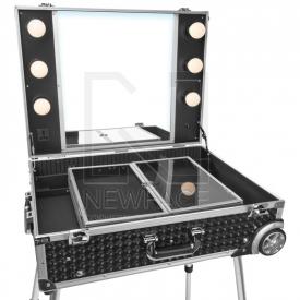 Kufer Kosmetyczny Glamour 9606 Czarny Cube (Przenośne Stanowisko) #2