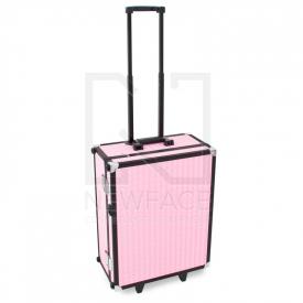 Kufer Kosmetyczny Glamour 9552 Różowy Cube (Przenośne Stanowisko) #3
