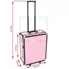 Kufer Kosmetyczny Glamour 9552 Różowy Cube (Przenośne Stanowisko) #4