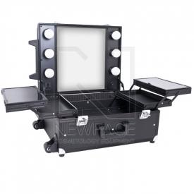 Kufer Kosmetyczny Glamour 9552 Czarny Cube (Przenośne Stanowisko)