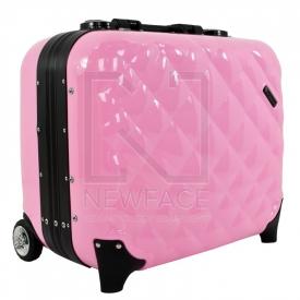 Kufer Kosmetyczny Glamour 9302-2 Różowy (Przenośne Stanowisko) #3
