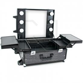Kufer Kosmetyczny Glamour 9552 Czarny Crystal (Przenośne Stanowisko)