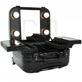 Kufer Kosmetyczny Glamour 9301 Czarny ( Przenośne Stanowisko)