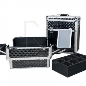 Kufer Kosmetyczny Glamour D-9009 Diamond Czarny #3