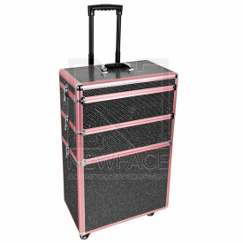 Kufer Kosmetyczny Glamour 9023 Czarny Crystal #3