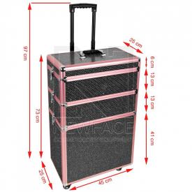 Kufer Kosmetyczny Glamour 9023 Czarny Crystal #4