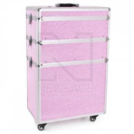 Kufer Kosmetyczny Glamour 9023 Różowy Crystal #1