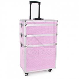 Kufer Kosmetyczny Glamour 9023 Różowy Crystal #2