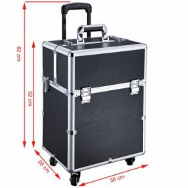 Kufer Kosmetyczny Glamour D-9006 Czarny #4