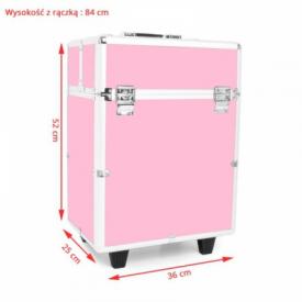 Kufer Kosmetyczny Glamour 9022 Różowy #4