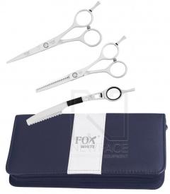 """Komplet Fox White (Nożyczki 5,5"""", Degażówki 5,5"""", Nóż Chiński)"""