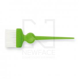 Pędzelek Szeroki Zielony Z Białym Włóknem #1
