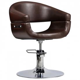 Fotel Fryzjerski Toscania Brązowy #1