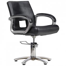 Fotel Fryzjerski Milano Czarny #1