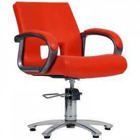 Fotel Fryzjerski Milano Czerwony