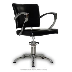 Fotel Fryzjerski Palermo Czarny #1