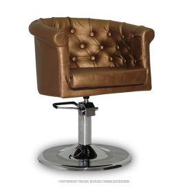 Fotel Fryzjerski Rimini Złoty