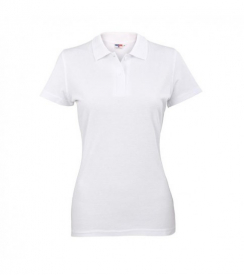 Koszulka Polo Damska Biała, Rozmiar XL