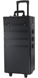 Kufer Kosmetyczny Na Rolkach TC004 Black Strip