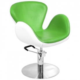Gabbiano Fotel Fryzjerski Amsterdam Zielony-Biały