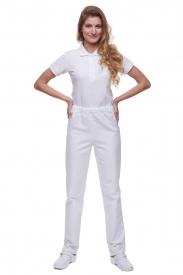Spodnie T4005 G Białe