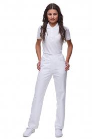 Spodnie T4018 P Białe